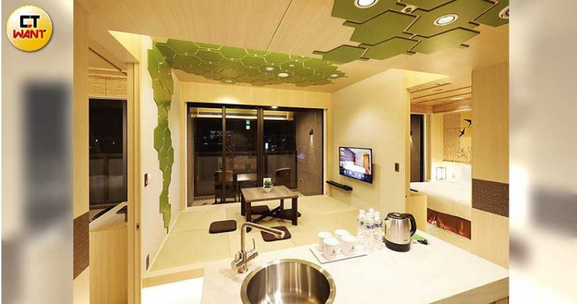 日式氛圍的特色房型,最多可供6人入住,很適合小家庭或好友結伴出遊。(攝影/于魯光)