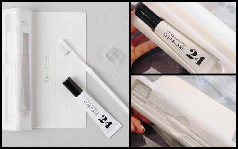 O'PRECARE是由一群韓國預防口腔醫學專家們所研發的創新品牌,並通過韓國Colma聯合研究的KFDA註冊安全規範。一推出就在韓國時尚圈引爆話題,造成熱銷。「#iloveme O'KIT時尚輕便組」2件組,含24小時全效護理15g*1、O'KIT美齒牙刷*1/900元。(圖/黃筱婷攝影、品牌提供)