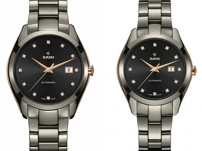 RADO「Hyperchrome皓星」系列,1314限量自動男女對錶╱各101,400元(圖╱RADO提供)