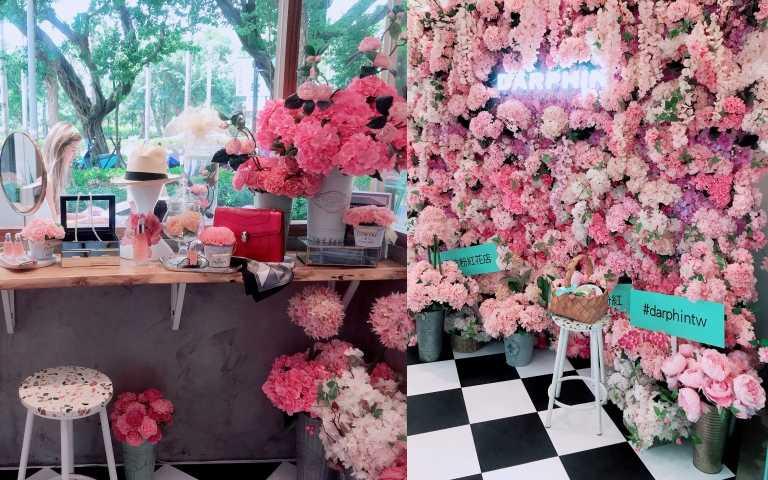 拍照打卡區,巴黎花園與梳妝台空間重現(圖/黃筱婷攝影)