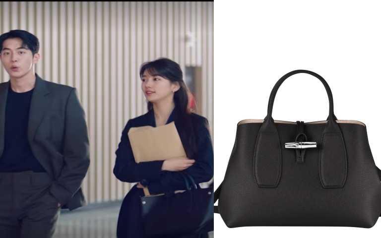 Longchamp Roseau 系列 手提包(M)(黑色)/ 17,400元(圖/IG、擷取至網路)