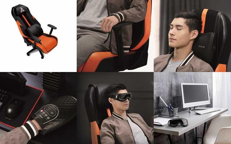 同場加映針對眼部、肩頸、手部設計的的電競特仕版小型按摩神器。(圖/品牌提供)
