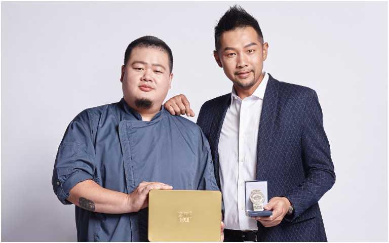 李信男(左)與自然主意創辦人James。(圖/自然主意X酷覓星提供)