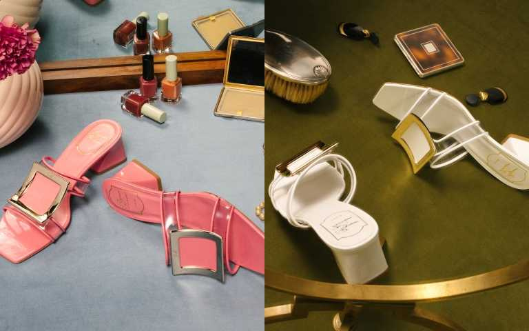 Roger Vivier Biki Viv PVC 透明穆勒鞋/31600元(圖/品牌提供)