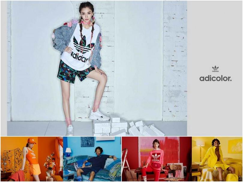 Angelababy個性呈現,adidas Originals全新adicolor系列,一定找的到你的色彩。(圖片/adidas提供)