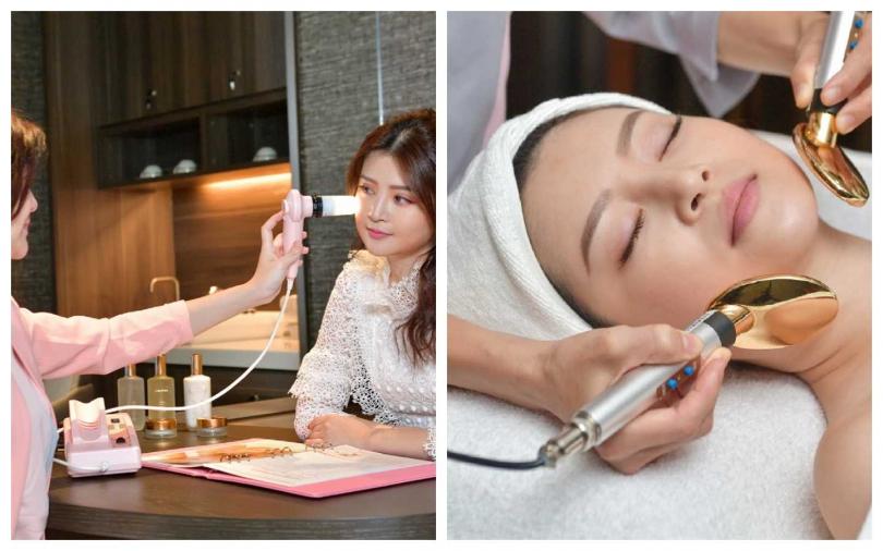 克麗緹娜經典精準煥膚護理課程120 min/5,000元。療程後段會加入克麗緹娜歷時多年研究、為直營店打造專屬的超導氧膚儀,透過科技加乘保養功效,幫助保養成分完美作用於肌膚上,以非侵入式的安全方式幫助肌膚導入保養成分。(圖/品牌提供)