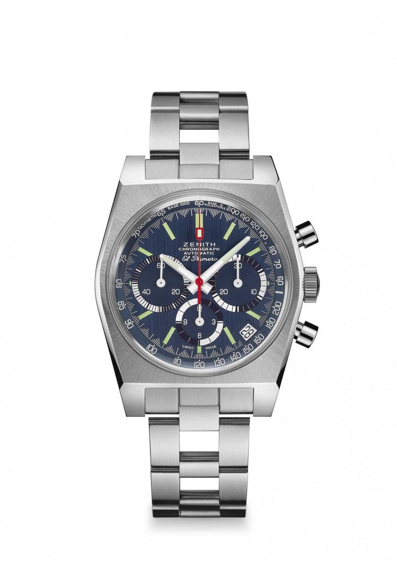 ZENITH「El Primero A3818」復刻版腕錶,限量100只╱255,960元(圖╱ZENITH提供)