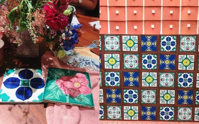 台灣花磚是當年有錢人家才能裝潢的美好裝飾(圖/黃筱婷攝影)