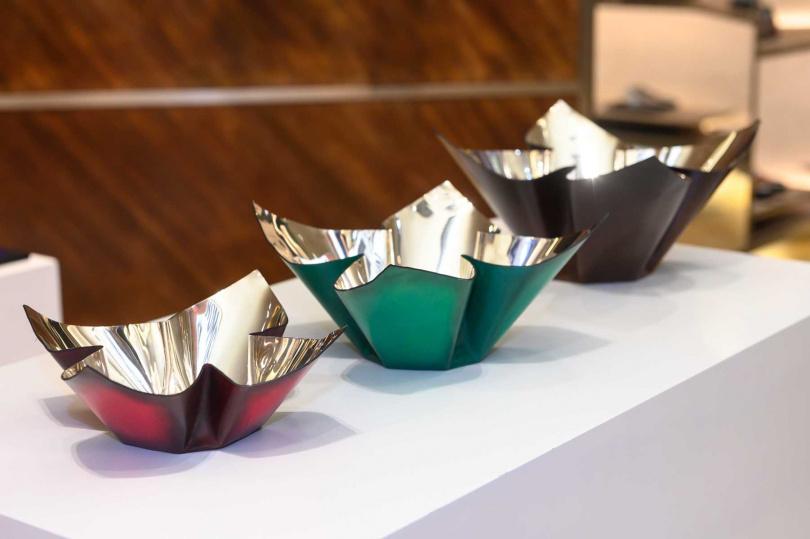 水果盤。Berluti 家居及辦公系列出自於San Lorenzo之手。(圖/品牌提供)