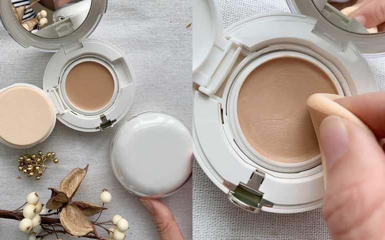 資生堂怡麗絲爾聚焦粉霜T/1,300元(粉蕊900元+粉盒400元)生巧克力的觸感極度滑順卻不黏不膩。(圖/吳雅鈴攝影)