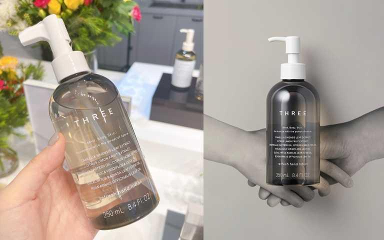 THREE植萃防護乾洗手,天然由來成分99% 250ml/1,600元