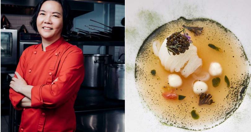 鹽之華法式餐廳主廚黎俞君表示未來菜單同樣會著重季節性,並使用不少發酵食材。(圖/鹽之華法式餐廳提供)
