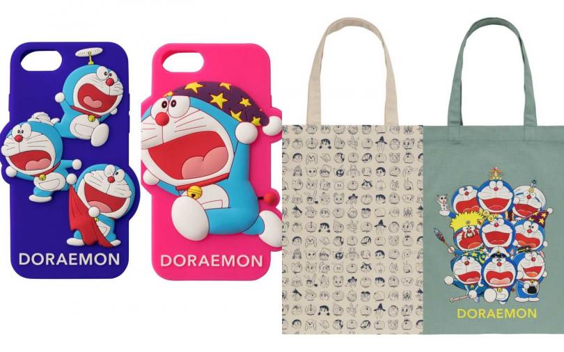哆啦A夢聯名手機殼、帆布手袋(圖/品牌提供)