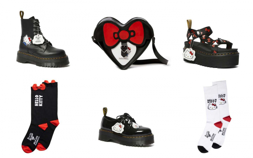 Dr. Martens x Hello Kitty系列,全球同步3月6號開始販售。(圖/Dr. Martens)