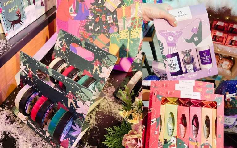 THE BODY SHOP推出多達一百多種的不同聖誕禮盒,價格從450~5800元都有,絕對能找得到適合你價格帶的禮物!!(圖/黃筱婷攝影)