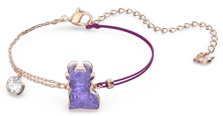 SWAROVSKI「Chinese Zodiac」系列,紫色水晶手鍊╱3,490元。(圖╱SWAROVSKI提供)