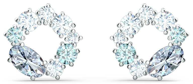 SWAROVSKI「Attract」系列,水晶穿孔耳環╱2,490元。(圖╱SWAROVSKI提供)
