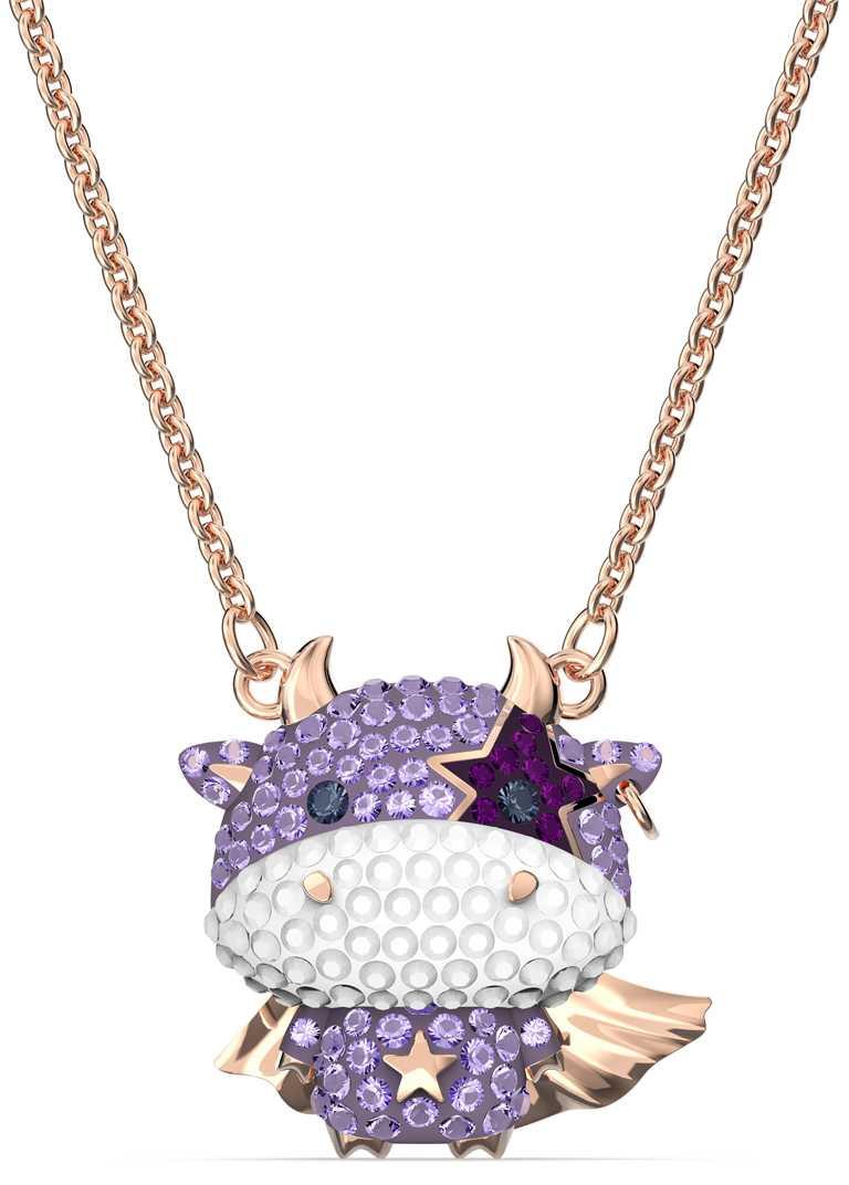 SWAROVSKI「「Little」系列,紫色水晶鍊墜╱4,290元。(圖╱SWAROVSKI提供)