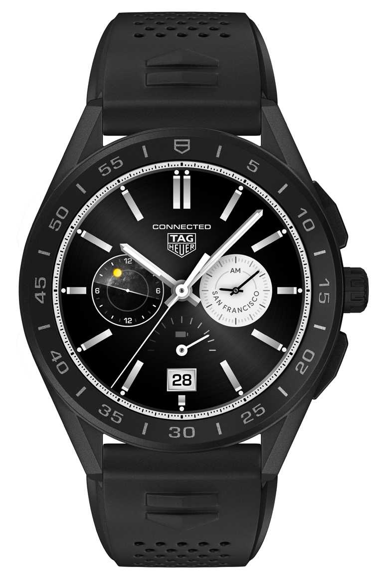 TAG HEUER「Connected」智能腕錶╱77,400元。(圖╱TAG HEUER提供)