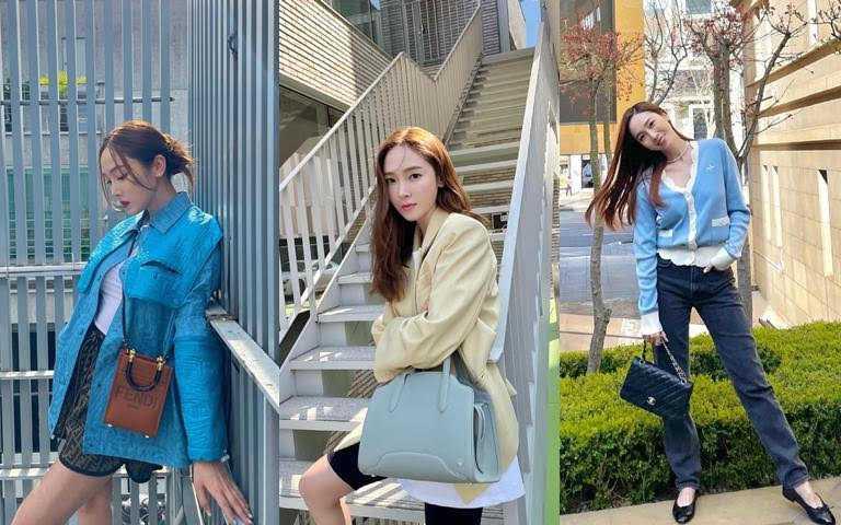 小編也好想跟Jessica一樣能每天換一個包包XD。(圖/翻攝Jessica IG)