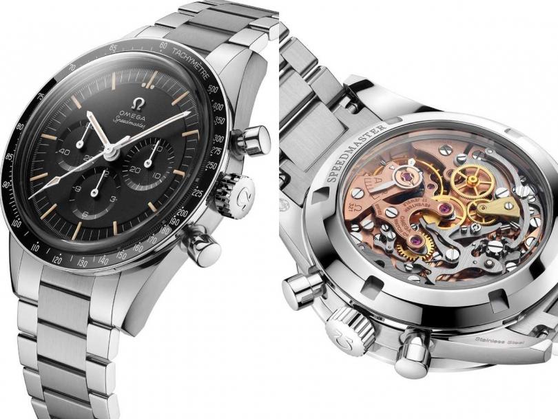 OMEGA「Speedmaster超霸」系列不鏽鋼腕錶;Speedmaster超霸系列登月錶╱459,300元(圖片提供╱OMEGA)