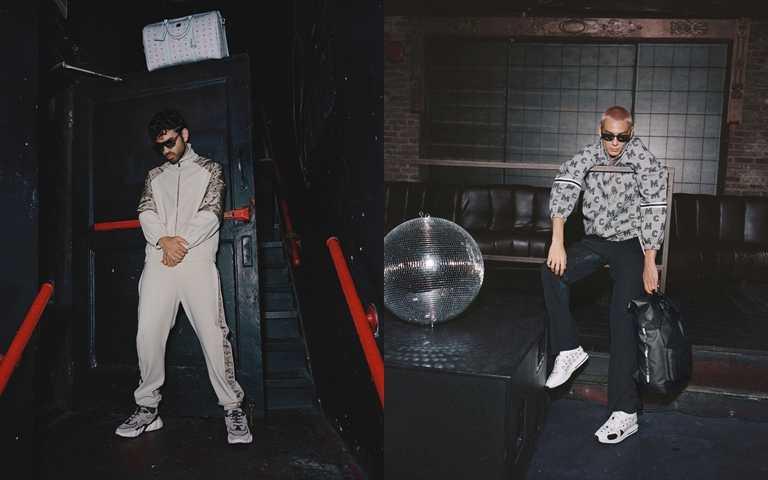 Disco與Techno相遇,讓不可或缺的中性色調綴以閃爍色彩搭配,將現代風格展露無疑。(圖/MCM)