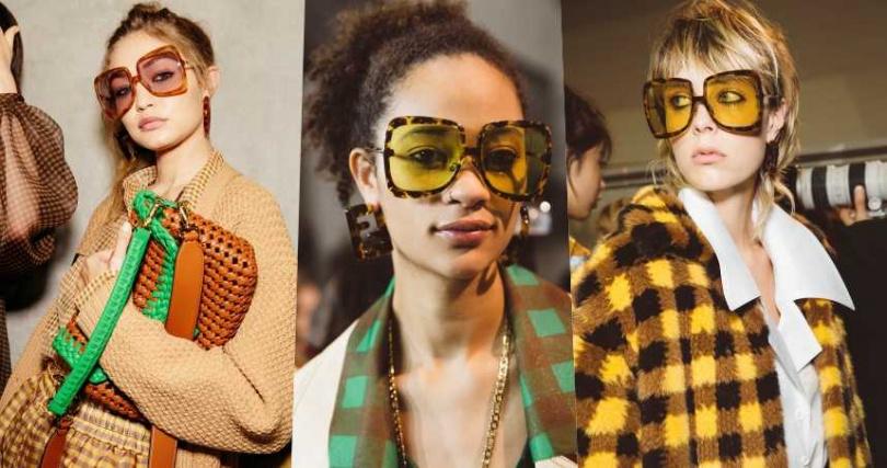 今年的有色眼鏡十分大膽,綠色、粉色、紫色通通是流行色。(圖/FENDI提供)