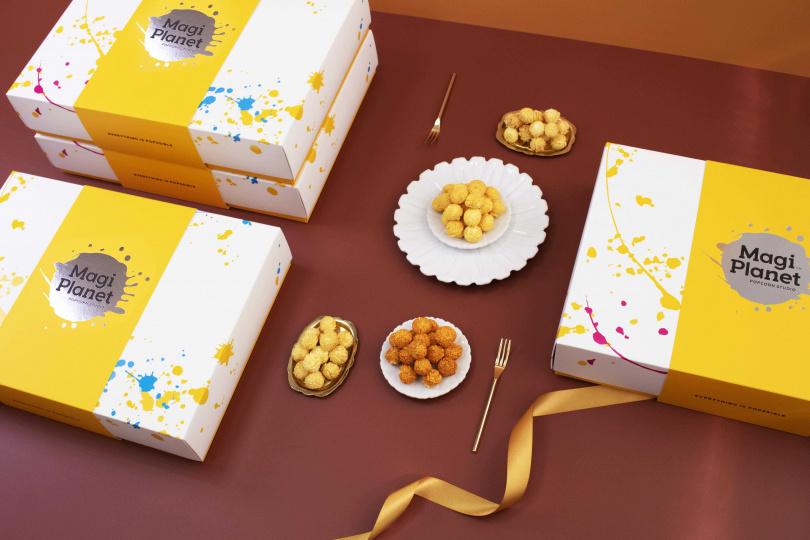 相較一般糕餅,口味包含「焦糖鹹蛋黃」、「玫瑰鹽焦糖」、「泰式酸辣」的「極致中秋組」,更具新意。(圖片提供/Magi Planet星球工坊)
