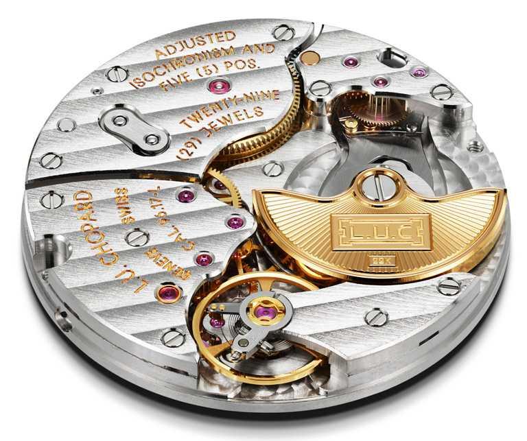 Chopard「L.U.C XP Urushi Year of the OX」金牛蒔繪腕錶,搭載L.U.C 96.17-L型自製機芯,具65小時動力儲存。(圖╱Chopard提供)