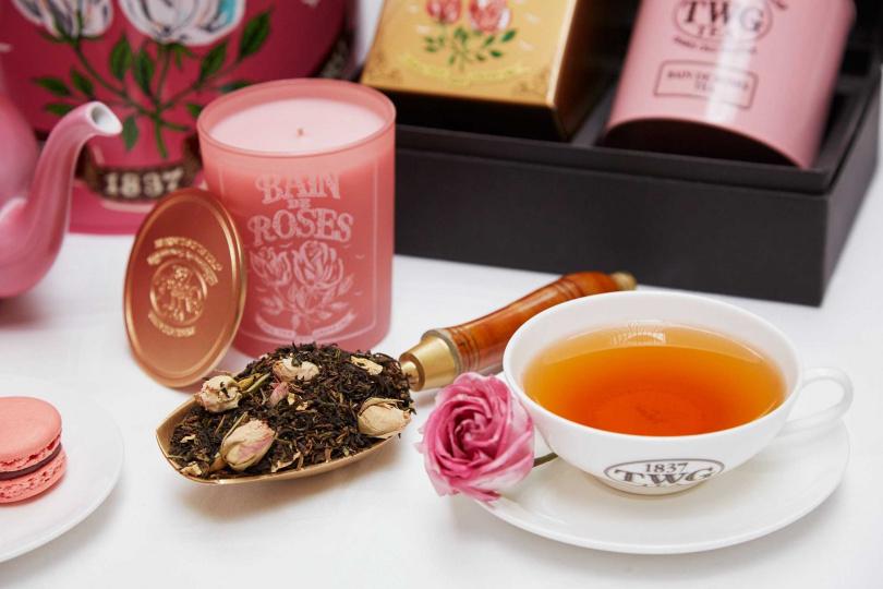 「獨寵自己」玫瑰芬香茶組禮盒。(圖/TWG Tea提供)