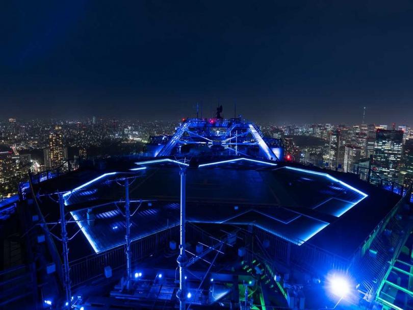 「Sky Deck」配合月相打造不同的燈光效果。(圖/森大廈株式會社提供)