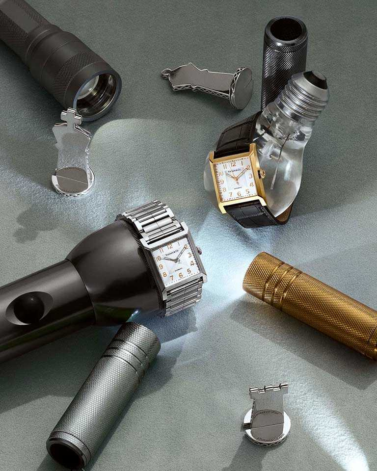 Tiffany & Co.「1837 Makers」系列,27mm,(左)精鋼鍊帶腕錶╱124,000元;(右)18K玫瑰金鱷魚皮革錶帶腕錶╱279,000元。(圖╱Tiffany & Co.提供)