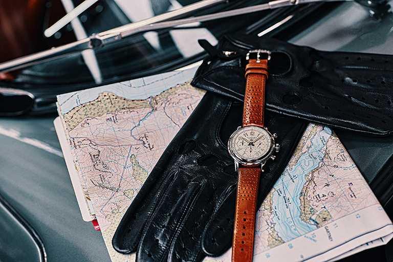 Chopard「Mille Miglia Classic Raticosa」系列腕錶,黑色面盤,42mm,精鋼錶殼,限量500只╱209,000元。(圖╱Chopard提供)