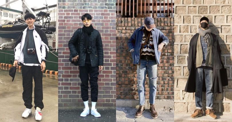 韓國演員柳俊烈、防彈少年團RM平時也山系型男的私服STYLE。(圖/翻攝自柳俊烈IG、防彈少年團官方推特)
