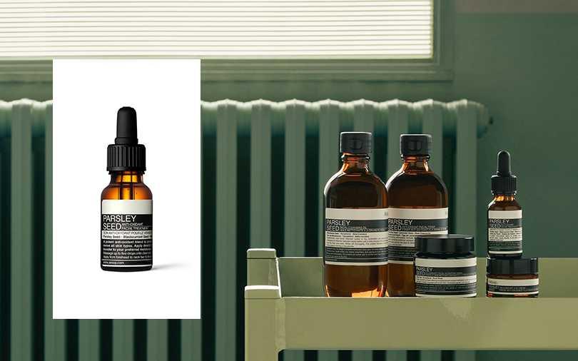 Aesop經典明星商品 香芹籽臉部肌膚調理系列,香芹籽抗氧化精露15ml/NT1,750。(圖/Aesop提供)