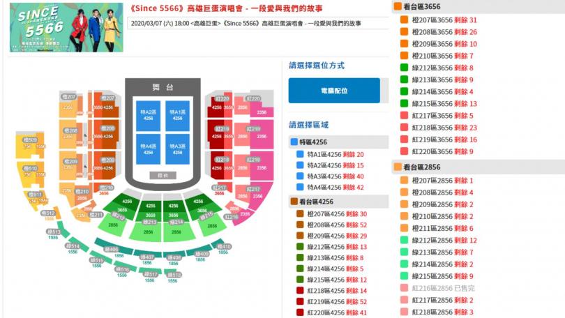 5566高雄巨蛋演唱會受新冠肺炎疫情影響,引發粉絲退票潮。(圖/翻攝自拓元售票官網)