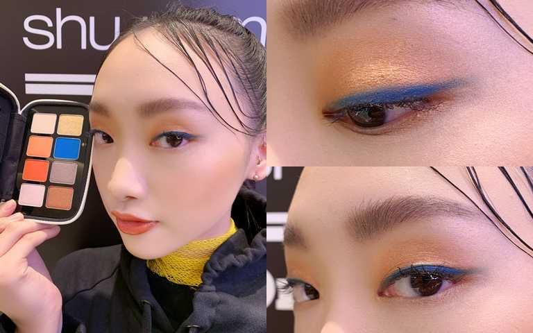 藍色其實沒有想像中難駕馭,像模特兒這樣當成眼線使用就OK。(圖/吳雅鈴攝影)