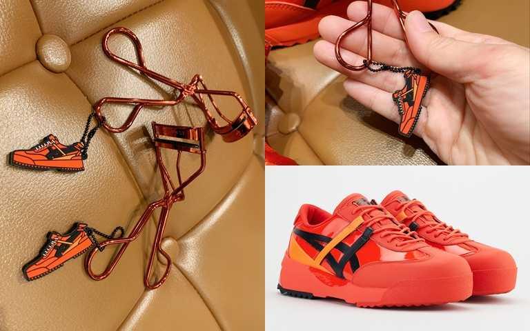 植村秀*Onitsuka Tiger睫毛夾/500元  可愛的小吊飾是植村秀*Onitsuka Tiger的聯名運動鞋造型,用它來夾睫毛實在太療癒了。(圖/吳雅鈴攝影、品牌提供)