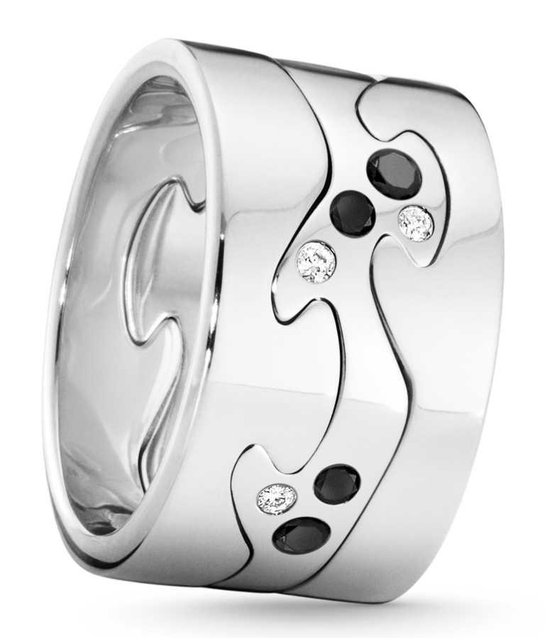 GEORG JENSEN 2020「FUSION」限量訂製系列戒指(三件式),「保持平衡」主題╱127,600元。(圖╱GEORG JENSEN提供)