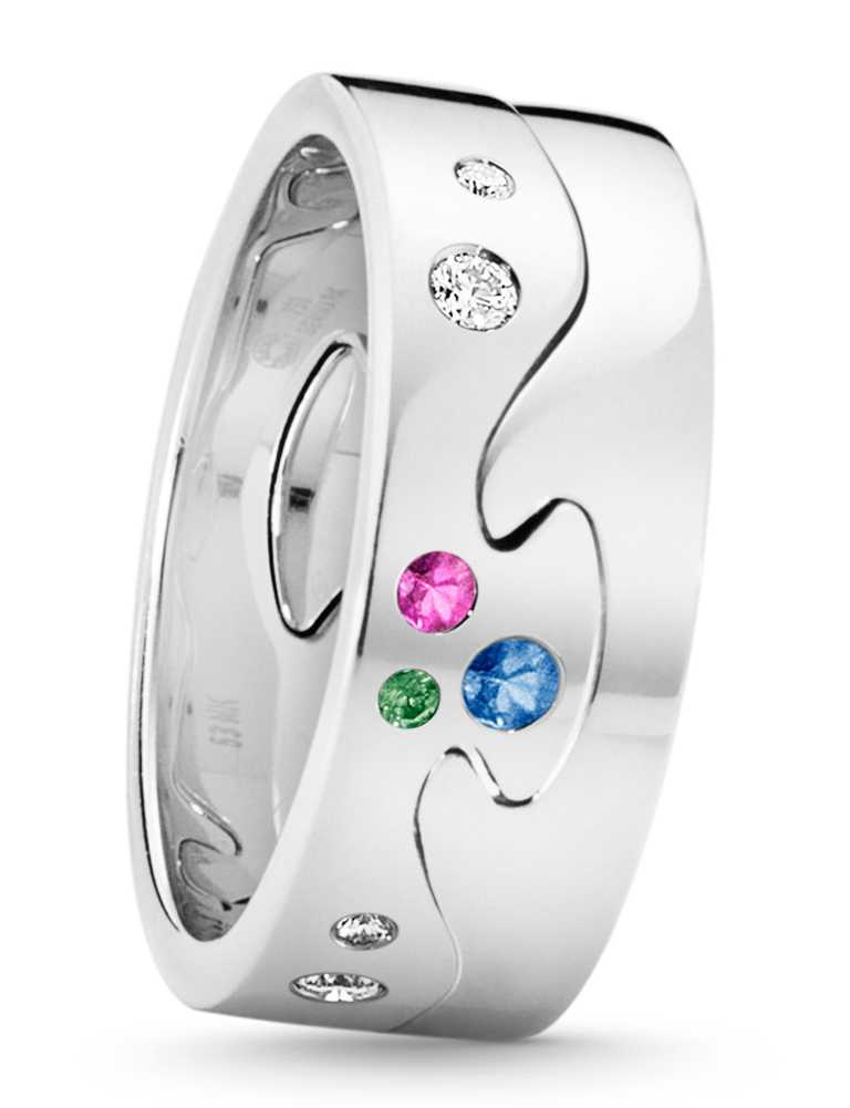GEORG JENSEN 2020「FUSION」限量訂製系列戒指(兩件式),「天賜奇蹟」主題╱97,100元。(圖╱GEORG JENSEN提供)