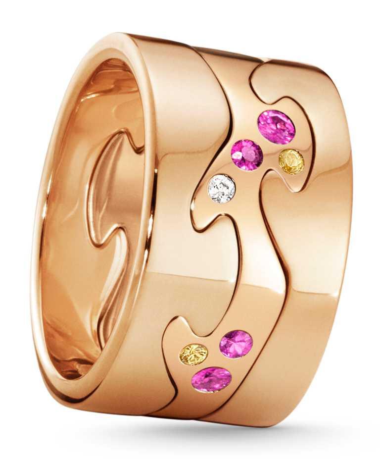 GEORG JENSEN 2020「FUSION」限量訂製系列戒指(三件式),「光彩榮耀」主題╱127,600元。(圖╱GEORG JENSEN提供)