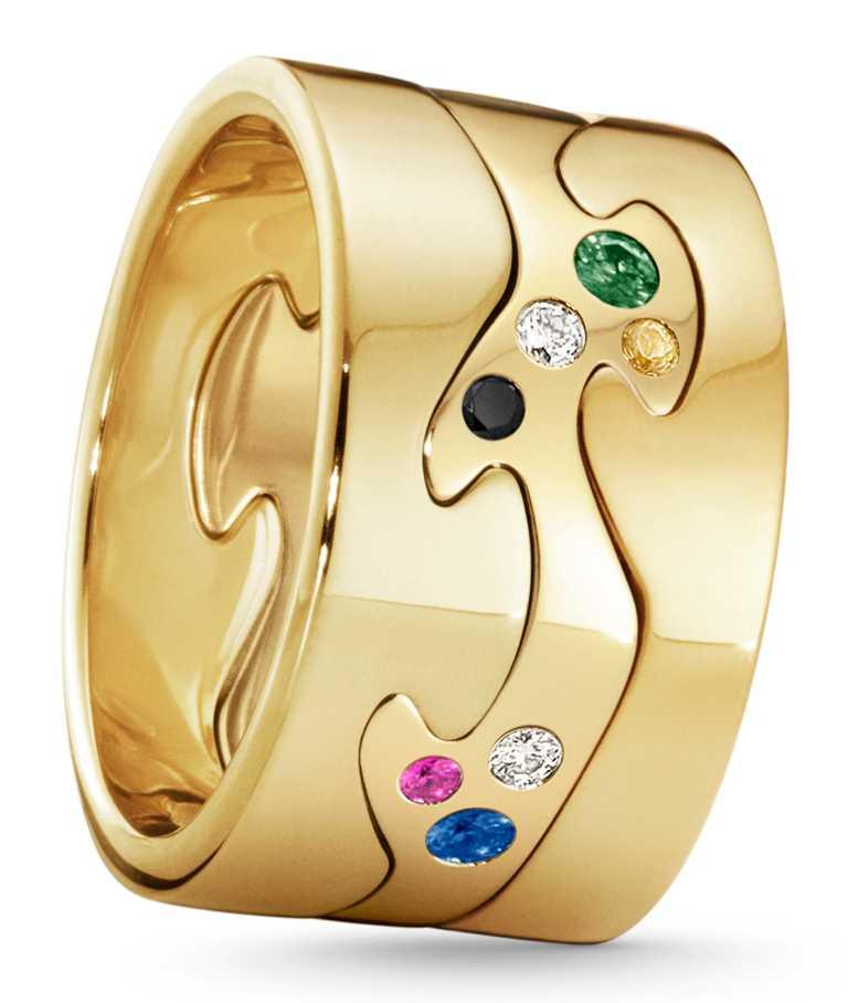 GEORG JENSEN 2020「FUSION」限量訂製系列戒指(三件式),「創意無窮」主題╱127,600元。(圖╱GEORG JENSEN提供)