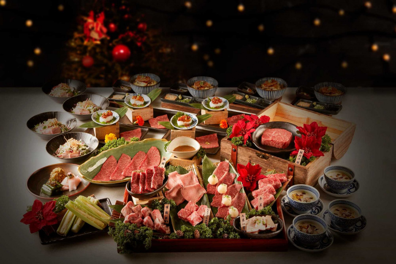 聖誕豪牛雙人套餐。(圖/老乾杯提供)