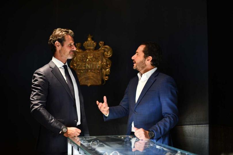 ZENITH首席執行長Julien Tornare與品牌摯友Patrick Mouratoglou,堅持相同信念。(圖╱ZENITH)