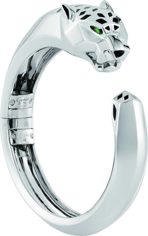 Cartier「Panthère de Cartier美洲豹」白金手環╱1,160,000元(圖╱Cartier提供)