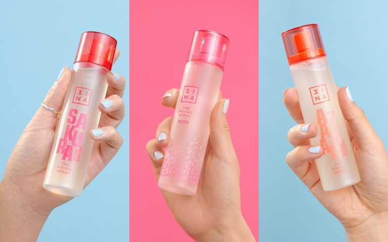 3INA高肌能甦活水噴霧100ml /550 元#玫瑰Rose、#櫻花Sakura、#橙花Azahar(圖/品牌提供)