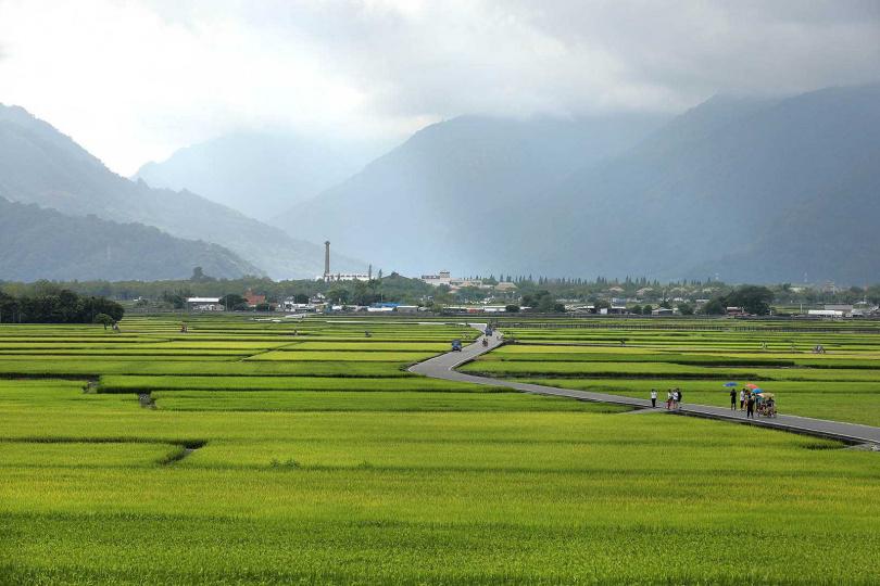 蜿蜒的田野小徑「天堂路」,風光靜美如詩。(圖/于魯光攝)