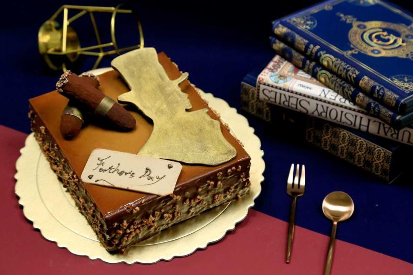 金士曼紳士蛋糕。(圖/台中裕元花園酒店提供)