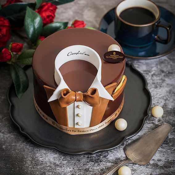「紳士的品味」巧克力咖啡蛋糕。(圖/香格里拉台北遠東國際大飯店提供)