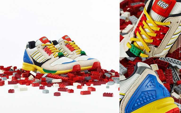 adidas Originals LEGO聯名款ZX8000男生鞋款/NT4,890,9/25上市。(圖/adidas Originals提供)